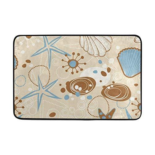 Soft-shell-golf (Not Slip Fußmatten Rugs Abstract Sea Stars Shell Soft Foam Printing for Living Room Kids Bedroom Bathroom Door Mats 23.6x15.7 inch/40x60cm)