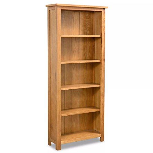 Festnight Bücherregal Bücherschrank 5 Fächer Eiche 60 x 22,5 x 140 cm - Holz-5-regal Bücherregal