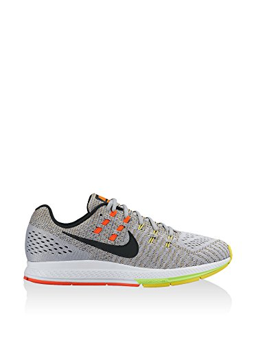 Nike Air Zoom Structure 19, Scarpe da Corsa Uomo, 9 EU Multicolore (Gris / Negro / Amarillo / Naranja (Wlf Gry/Blk-Opt Yllw-Ttl Crmsn))