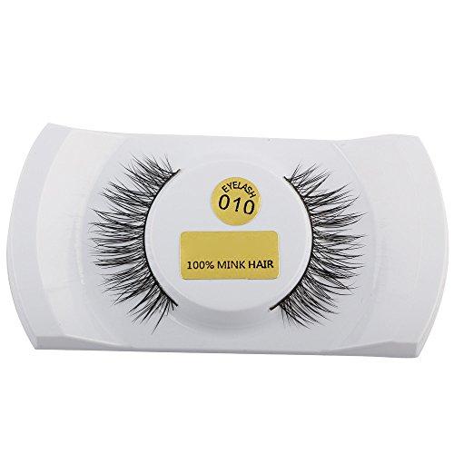 MMLC 1 Paar 3D Wimpern Natural Dicke Fake falsche Wimpern Makeup Verlängerungen für Frauen (I)
