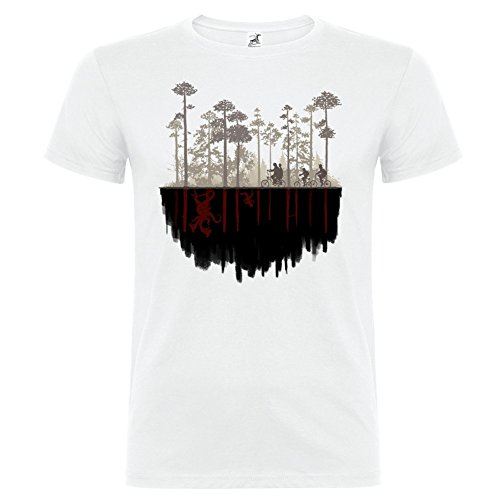 Bikerella T-shirt manica corta Unisex Stranger Things Upside Down by by BIANCO/COLOR