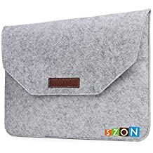 SZON Wool Felt Laptop Sleeves/Bag Light (Grey) For HP 15-BW500AX 2017 15.6-inch Laptop (AMD A10-9620p/4GB/2TB/Windows 10 Home/2GB Graphics), Sparklig Black