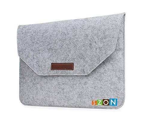 SZON Wool Felt Laptop Sleeves/Bag Light (Grey) for Dell Inspiron i7359-1145SLV 13.3 inch 2-in-1 Touchscreen Laptop (6th Generation Intel Core i3, 4 GB RAM, 500 GB HDD)