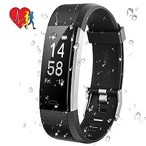 Mpow Fitness Tracker mit Pulsmesser, IP67 Fitness Armband Aktivitätstracker Herzfrequenzmonitor Schrittzähler Uhr mit 14 Trainingsmodi Vibrationsalarm Anruf SMS Beachten für iPhone Android Handy