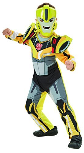 Deluxe Bumble Bee Transformers Robots in Disguise - Kids Costume 7 - 8 years by (Transformer Bumble Kids Kostüm Bee)