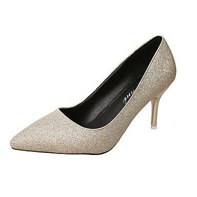 Talloni delle donne Primavera Estate PU comfort tacco basso casual Altri Nero Argento Oro Altri Silver