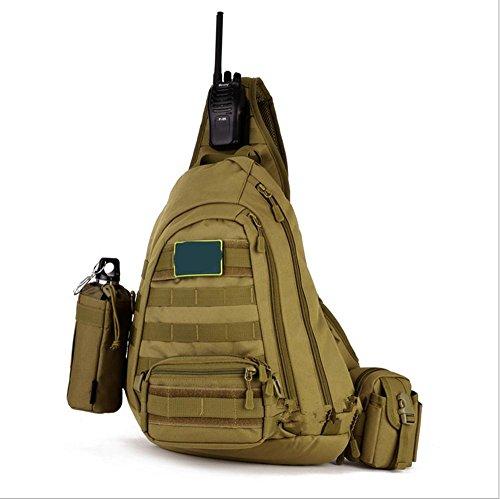 Xiuxiandianju 20L Outdoor-vollbusige Fahrt Taschen Freizeit Taschen Taschen Rucksack Schultertaschen geschlungen Rucksack wolf brown