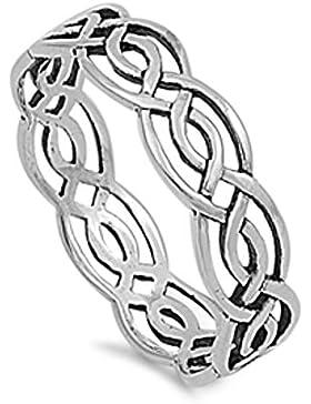 Keltischer Ring aus Sterlingsilber