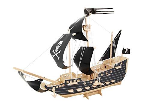 Etna Iława Piratenschiff 3D Holzbausatz Schiff Boot Holz Steckpuzzle Holzpuzzle Kinder P217