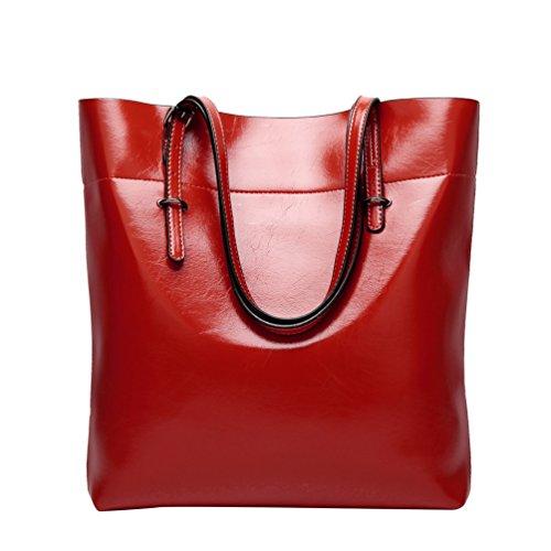 Yilianda Borse Donna Pu Pelle Elegante Borsa Tracolla Borsa A Tracolla Shopper Borsa Manico Borsa Galleggiabilità Borsa Rossa