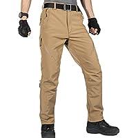 Soldado libre al aire libre hombres de Softshell pantalones instantánea impermeable y cortavientos pantalones escalada y senderismo pantalones, hombre, color Mud Color, tamaño XL …