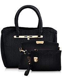 Mark & Keith Women's Handbag With Sling Bag & Pouch (Black,Mbg 0418 Bk)