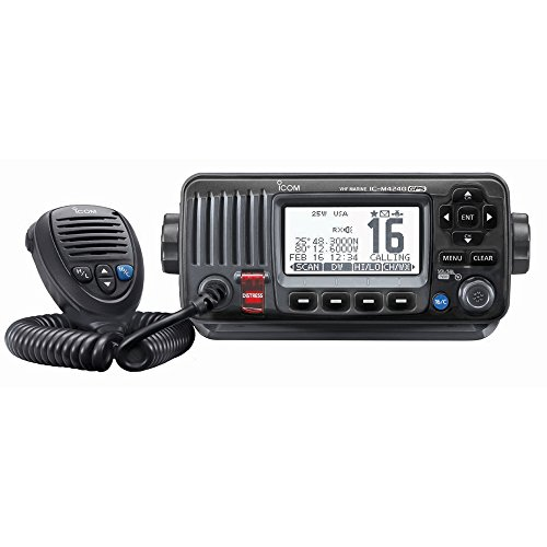 The Amazing Quality Icom M424G Fixed Mount VHF Marine Transceiver w/Built-In GPS - Black by Icom Fixed-mount Marine