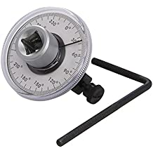 """Silverline 254617 - Medidor de angulo goniometro para llave dinamométrica (Cuadradillo de 1/2"""")"""