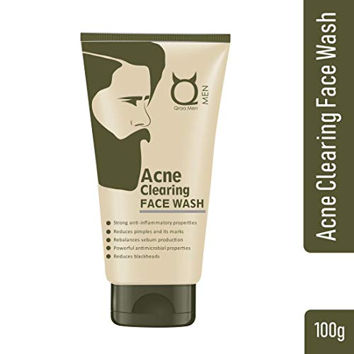 Qraa Acne Clearing Face wash for men-With Turmeric and Tea tree Oil (Prevents & Clear pimples)