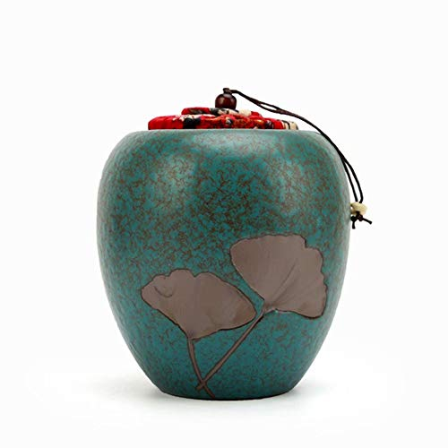 WY-Funeral Urn Feuerbestattung Urnen Keramik Tee Tank Keramik Tank Ornament Tank -