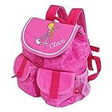 Sigikid Kinder-Rucksack mit Wunsch-Name bestickt 26 cm x 12 cm x 30 cm Pinky Queeny pink rosa...