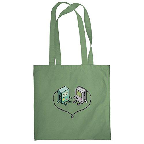 Texlab–Hand Held Love–sacchetto di stoffa Oliva