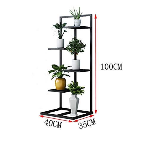 Puesto de plantas Soporte de flores vertical de hierro forjado, soporte de flores de múltiples capas con estructura de metal, soporte de exhibición de macetas, decoración de jardín en el patio interio
