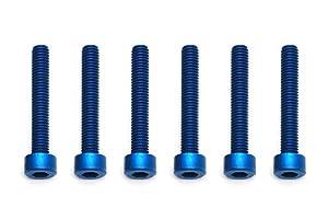 Team Associated Screws, 3x 20mm shcs, Blue Aluminum