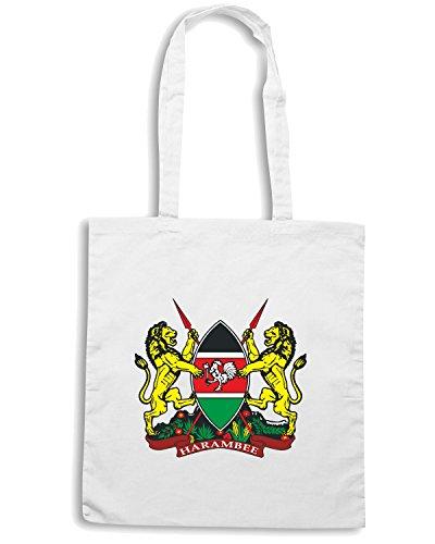 T-Shirtshock - Borsa Shopping TM0101 kenya court of arms citta Bianco