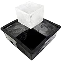 Large Whiskey Ice Cube Mold Ice Tray For Perfect Cocktail Ice Cubes - Makes 4 Large Square Ice Cubes