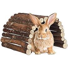 Relaxdays – Puente Adolescente Madera, túnel para Animales pequeños Jaula, hámster, Conejos,