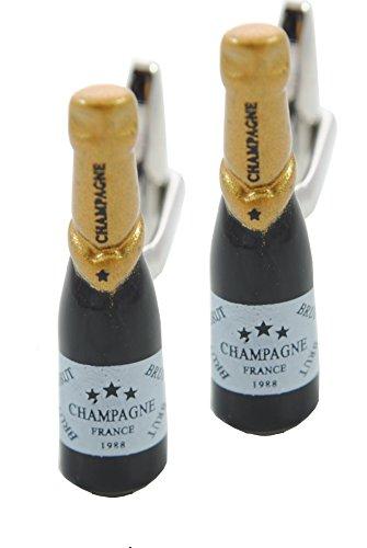 COLLAR AND CUFFS LONDON - GEMELLI DI ALTA QUALITÀ - Bottiglia Di Champagne - Ottone (Polsino Del Papà Gemelli)
