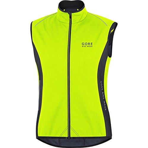Gore Bike Wear, Uomo, Gilet Termico, Ciclismo su Strada, Windstopper Soft Shell, Power Thermo Vest, Taglia L, Giallo Neon/Nero, VPOWER