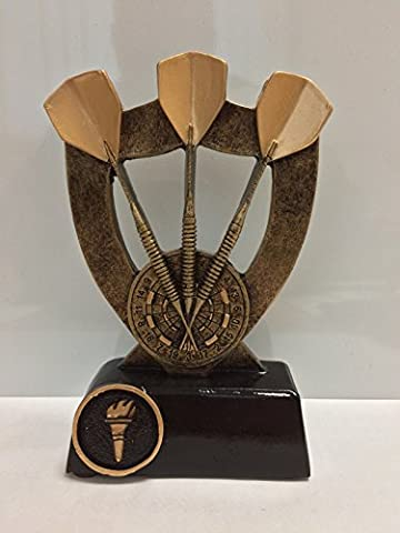 Darts Trophy Shield with Darts and Board 140mm (5.5