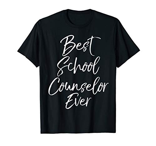 Awesome Counseling Gift for Women Best School Counselor Ever T-Shirt -