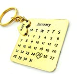 #8: Smart Galleria Birthday Gift Personalized Calendar Keychain with name and d.o.b on Metal