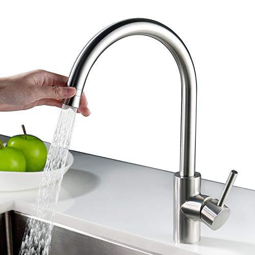 Homelody 360° Drehbar Küchenarmatur Edelstahl Armatur Küche Wasserhahn  Spültisch Spültischarmatur Sp