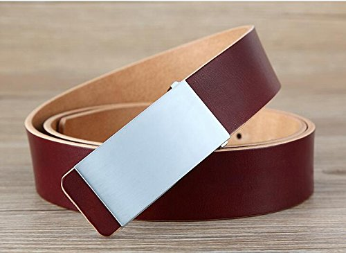 7f2f5a5bb017 PIDAI PDAI ,Belt Men s Leather Smoothing Business Casual Head Layer Ceinture  en Cuir Pur