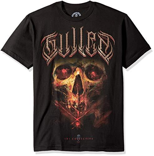 Sullen Art Collective Herren Jorquera Badge T-Shirt, schwarz, Groß -