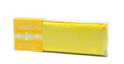 Immortelle y de semillas de lino algodón Natural Shell Ojo Máscara De Dormir Almohada y–proporciona refrigeración, relajación, Socorro–Microondas o Frozen, contorneado