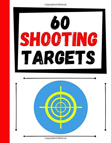 60 Shooting Targets: Large Paper Perfect for Rifles / Firearms / BB / AirSoft / Pistols / Archery & Pellet Guns -