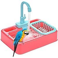 Baños para pájaros, comedero para pájaros, Loro, bañera automática, Piscina, Jaula para pájaros, Juguetes para el baño, Grifo, Jaula para pájaros