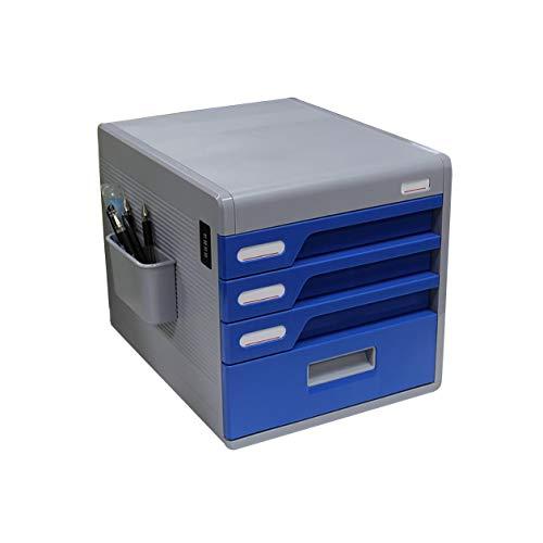 Bxwjg Passwortsperre Desktop aktenschrank, datei aufbewahrungsbox, die Kunststoff dateistruktur Schublade aktenschrank datei Box-4 Schichten -