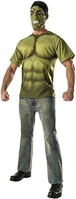Rubie 's Costume Co Men de los Vengadores 2edad de Ultron Hulk camiseta de adultos y máscara