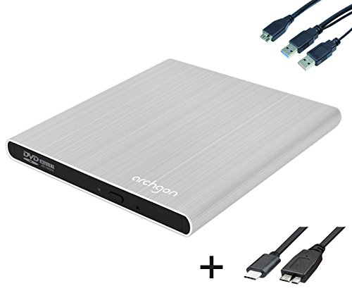 Archgon Style (S) DVD Brenner extern (Player) USB 3.0 USB-C Alu silber