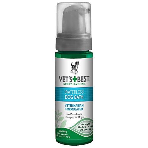 Vet's Best Waterless Hundebad | Kein Spülen trockenes Shampoo für Hunde | Natürliche Formel erfrischt Mantel und kontrolliert Geruch zwischen Bädern,147ml