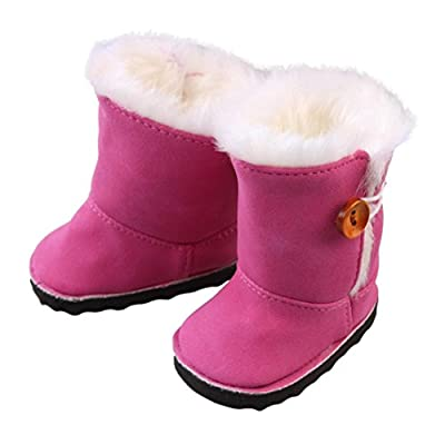 Saingace Plush Winter Snow Boots for 18 inch American Girl Dolls Mini Shoes : everything £5 (or less!)
