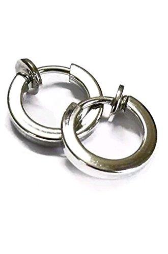 Oyshome White Spring Stainless steel Stud Earrings For Men And women