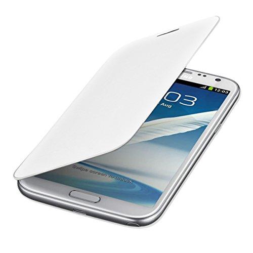Custodia protettiva pratica e chic FLIP COVER per Samsung Galaxy Note 2 N7100 in Bianco firmata kwmobile