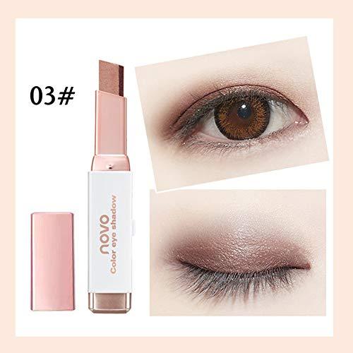 Cwemimifa Makeup Paletten Unter 5 Euro, Neuer zweifarbiger Lidschattenstift mit Farbverlauf und Schimmer-Palette,C (Make-up Blush-palette Unter $5)