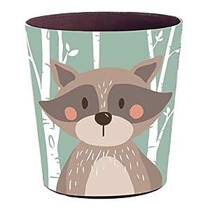 YAKOK Mülleimer Kinderzimmer, 10L PU Leder Tier Dekorativ Papierkorb Kinder für Mädchen Jungen Wohnzimmer Schlafzimmer Kinderzimmer (Bär)