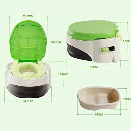 HTTMYY Kinder Kleine Toilette TöPfchen Toilette Solide Rutschfest Tragbar GemüTlich Junge MäDchen , green
