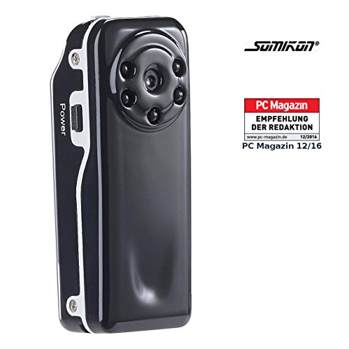 Somikon Überwachungscam: Mini-Überwachungs-Cam Raptor-720.ir mit HD-Video & Infrarot-Nachtsicht (Mini HD Überwachungskameras)