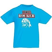 lepni.me N4687K La Camiseta de Los Niños 100% Rocker! Ropa de La Motocicleta